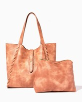 Charming charlie Lively Whipstitch Bag-In-Bag Tote