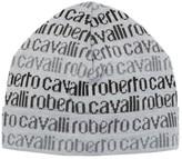 Roberto Cavalli Graphic Wool Cuff Beanie