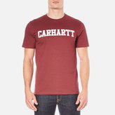 Carhartt Short Sleeve College Tshirt - Chianti/white