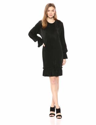 The Fifth Label Women's Relativity Long Bell Sleeve Ruffle Shift Dress