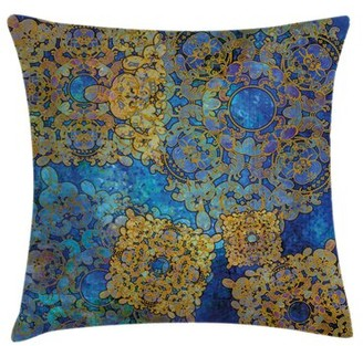 "Ambesonne Moroccan Persian Motif Bohemian Pillow Cover Ambesonne Size: 16"" x 16"""
