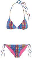 Matthew Williamson Printed triangle bikini