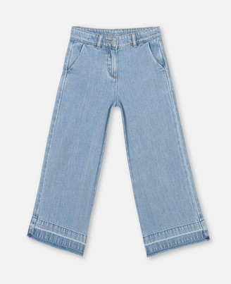 Stella McCartney wide leg denim trousers