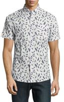 Report Collection Feather-Print Cotton Shirt