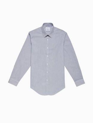 Calvin Klein Slim Fit Smoky Blue Stripe Performance Non-Iron Dress Shirt