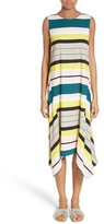 Lafayette 148 New York Women's Romona Stripe Handkerchief Hem Dress