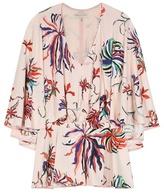 Emilio Pucci Printed Silk-blend Jersey Cape Blouse
