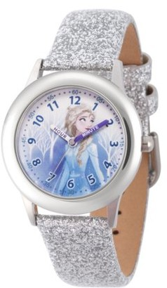 Disney Frozen 2 Elsa Girls' Stainless Steel Watch, 1-Pack