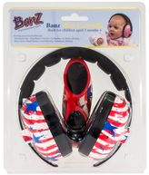 BaBy BanZ EarBanZ Infant Hearing Protection and Adventure BanZ Sunglasses in Stars and Stripes