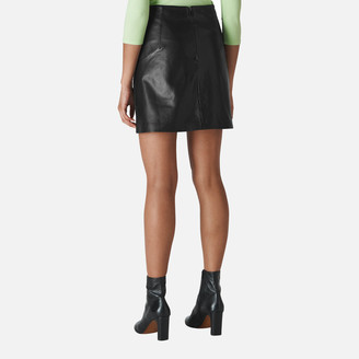 Whistles Women's Leather A Line Skirt