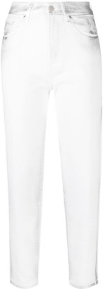 7 For All Mankind Malia Silver Cloud straight-leg jeans