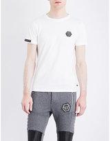 Philipp Plein Badge-detail Cotton T-shirt