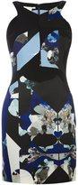 Antonio Berardi printed fitted dress - women - Virgin Wool/Silk/Spandex/Elastane - 38