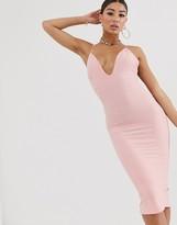 Asos Design DESIGN bandage midi pencil dress with T- bar back