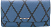 Burberry geometric print continental wallet - women - Cotton/Calf Leather - One Size