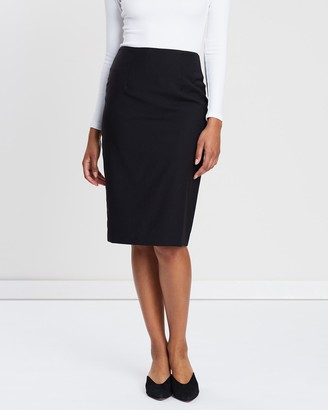 SABA Celeste Wool Pencil Skirt