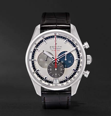 Zenith El Primero 42mm Stainless Steel And Alligator Watch