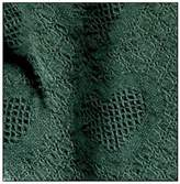 "Hunter Green Honeycomb Heart Afghan Throw Blanket 48"" x 60"""