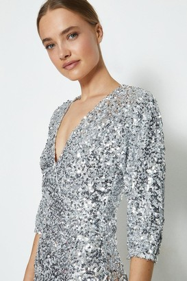 Coast Kimono Sleeve Sequin Maxi Dress