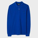 Paul Smith Men's Indigo PS Logo Long-Sleeve Organic-Cotton Polo Shirt