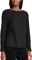 Chaps Women's Leaf Stitch Boatneck Sweater