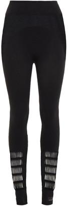 adidas by Stella McCartney Mesh-paneled Cutout Stretch Leggings