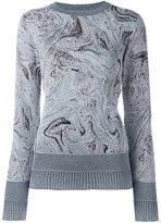 Lanvin marbled design jumper