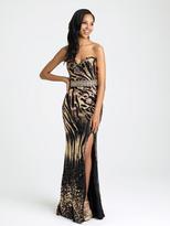Madison James - 16-347 Dress in Black Gold