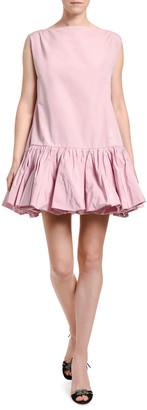 Valentino Drop-Waist Poplin Shift Dress