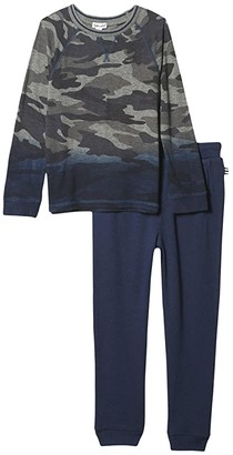 Splendid Littles Dip-Dye Camo Top Set (Toddler/Little Kids/Big Kids) (Charcoal Heather) Boy's Active Sets