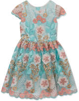 Rare Editions Embroidered Floral Party Dress, Toddler Girls, Created for Macy's
