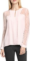 Vince Camuto Women's Lace Sleeve Keyhole Blouse