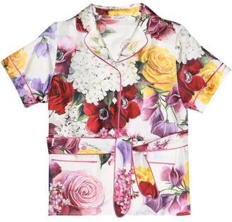 Dolce & Gabbana Floral silk-blend shirt