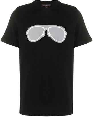 Michael Kors aviator print T-shirt