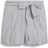 J.Crew Striped tie-waist short in cotton poplin