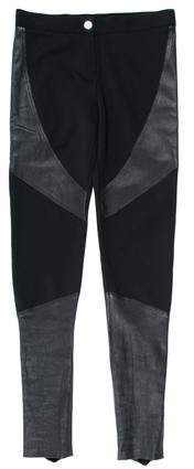 Givenchy Leather Panel Skinny-Leg Pants