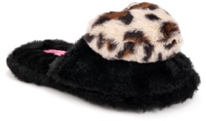 Betsey Johnson Women's Heart Slippers
