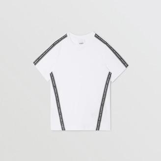 Burberry Logo Tape Cotton T-shirt
