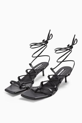 Topshop CONSIDERED VIOLA Vegan Black Heel Sandals