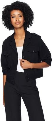 T Tahari Women's Glorie Denim Short-Sleeve Jacket