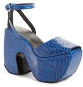 Marques Almeida Women's Marques'Almeida Croc Embossed Platform Sandal