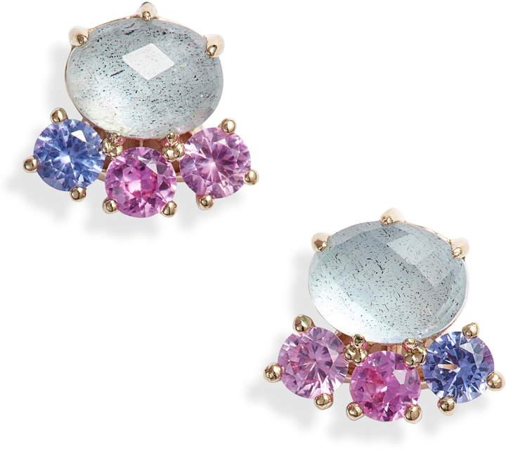 Nadri Bloom Cluster Stud Earrings