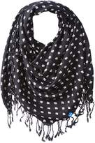 Keds Women's Square Scarf with Fringe