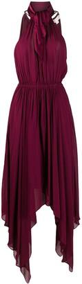 MICHAEL Michael Kors Handkerchief-Hem Chiffon Midi Dress