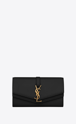 Saint Laurent Monogram Slg Sulpice Large Wallet In Smooth Leather Black Onesize