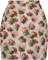 Valentino Printed silk mini skirt
