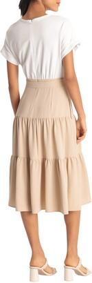 Donna Morgan Short Sleeve Combo T-Shirt Dress