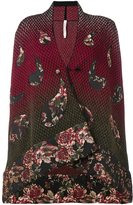Antonio Marras 'Asymmetrical Knitted Floral' cardigan