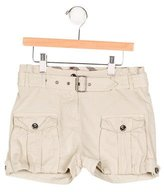 Burberry Girls' Belted Cargo Shorts