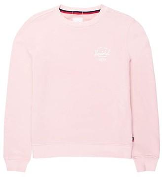 Herschel Crew Neck (Classic Logo Rosewater/White) Women's Sweatshirt